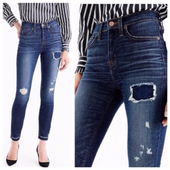 J. Crew Lookout High Rise Skinny Distressed Jean